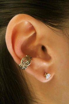 Bronze Nouveau Swirl Ear Cuff. $22.00, via Etsy.