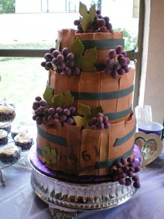 Age Like Wine 50th Birthday Cake By Dolledupcakes on CakeCentral.com