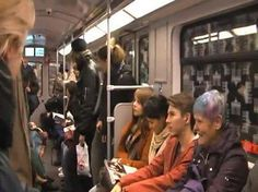 Soooo funny People laughing without a reason in a subway