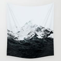 Those waves were like mountains Wall Tapestry by Robert Farkas   Society6