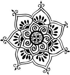 simple mandala stencil - Google Search