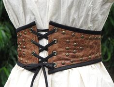Pirate Wench Steampunk Extra Wide Studded Belt by CurvyWench, $59.00