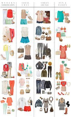 Fashion Friday: The Perfect Senior Session Wardrobe- capsule wardrobe example Looks Style, Style Me, Classic Style, Mode Outfits, Fashion Outfits, Fashion Capsule, Fashion Tips, Summer Outfits, Casual Outfits