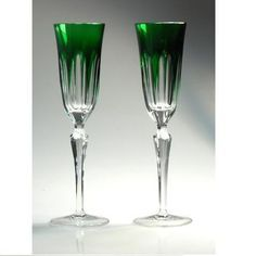 emerald green champagne flutes - Google Search