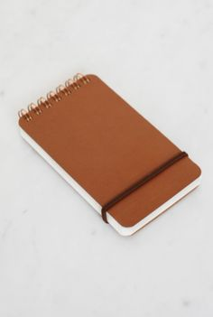 Gourgeous Midori - Grain Leather Notepad - Plain - (7x14cm) - From NoteMaker Stationery #japanese #design #stationery