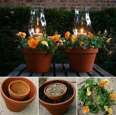 Flower pot hurricane lights                                                                                                                                                                                 More