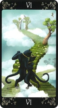 The Black Cats Tarot is another feline-inspired deck, this one focusing on the magical black cat. The 78 cards mix fantasy and reality in its image of human-like black cats.
