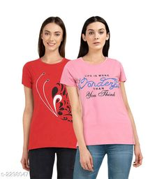 Checkout this latest Tshirts Product Name: *Elegant Cotton Women's T-Shirt (Pack Of 2)* Fabric: Cotton Sleeve Length: Short Sleeves Pattern: Printed Multipack: 2 Sizes: S, M, L, XL, XXL, XXXL, 5XL Country of Origin: India Easy Returns Available In Case Of Any Issue   Catalog Rating: ★4.3 (446)  Catalog Name: Pritika Elegant Cotton Women's T-Shirts Combo Vol 2 CatalogID_306448 C79-SC1021 Code: 853-2298047-888