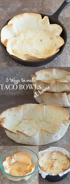 It is so easy to make hard taco salad bowls at home. There 3 quick and healthier ways to make them in your oven. It only takes 35 minutes to make.