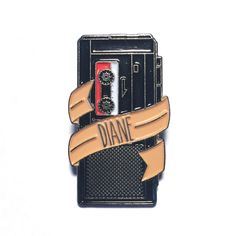 Twin Peaks - Diane Tape Recorder Lapel Pin