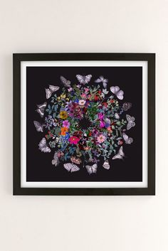 Fleuriosity Butterfly Garden Art Print