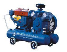 Mining air compressor, diesel powered air compressor