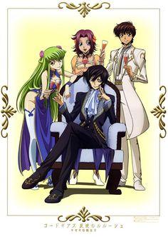 CODE GEASS, Lelouch, Suzaku, Karen & C.C.