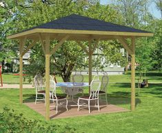 It is fabulous what these guys did with this specific theme and plan. What a very good idea for a Large Gazebo, Wooden Gazebo, Hot Tub Gazebo, Patio Gazebo, Outdoor Pergola, Open Shed, Pressure Treated Timber, Hot Tub Cover, Outdoor Seating Areas