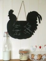 Cockerel Shape Chalkboard Country Kitchen, Kitchen Accessories, Chalkboard, Diy Projects, Shapes, Halloween, Crafts, Decorations, Home Decor
