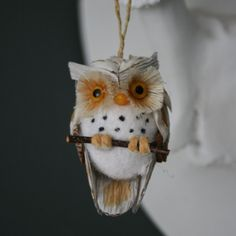 Natural Cone Owl Decoration - Christmas Decorations - Christmas