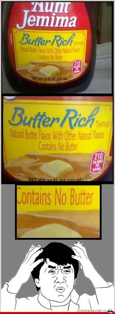 No Butter but Butter Rich ... I've been wondering the same thing