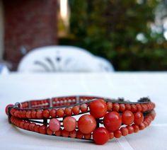 mid 1800s coral bracelet