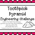 Toothpick Pyramid: Engineering Challenge Project ~ Great STEM Activity! $2 tpt