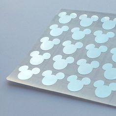$4.29 50 Metallic Silver Mickey Stickers Mickey by StickersDesigns