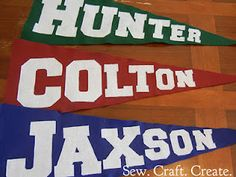 pennants for sports room
