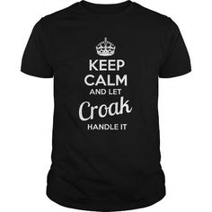 nice CROAK Name Tshirt - TEAM CROAK, LIFETIME MEMBER Check more at http://onlineshopforshirts.com/croak-name-tshirt-team-croak-lifetime-member.html