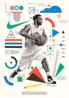 Illustration by Neil Stevens for JSR Agency artist agents. Basketball Skills, Basketball Games, Neil Stevens, Deron Williams, New Scientist, Image Makers, New Tricks, Nike, The Guardian