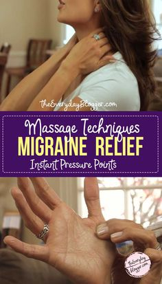 - Learn the right pressure points to get instant relief for migraine, headaches, tension, stress, and a throbbing brain. Tension Migraine, Tension Headache Relief, Pain Relief, Stress Relief, How To Relieve Migraines, How To Relieve Stress, How To Help Headaches, Cluster Headaches, Salud
