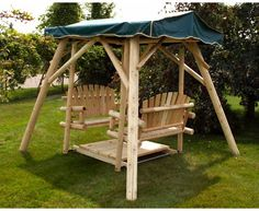 Moon Valley Adirondack Double Glider Swing And Frame