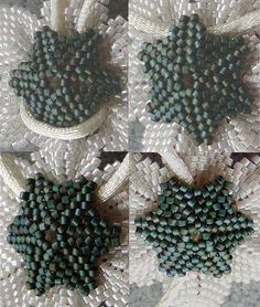 Hang a beaded flower so the bail does not optically interfere with the flower and the flower does not 'look down', because its upper end is pushed forward by a bail behind it, I found something I'm happy with. It even stabilizes an otherwise slightly floppy flower, and allows 4 ways to thread the chain/string that holds the pendant.