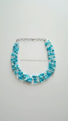 Hey, I found this really awesome Etsy listing at https://www.etsy.com/listing/212029811/turquoise-necklacecrystal