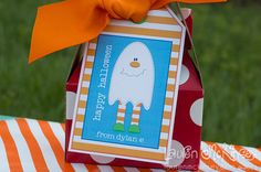 Halloween printables :: little ghosts for boys hanging gift tags by Lauren McKinsey