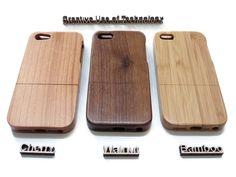 Handytaschen - Iphone 6 hülle - Bambus, Kirsche und Nusbaum - ein Designerstück von CreativeUseof bei DaWanda