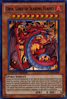 Yugioh card - Uria, Lord of Searing Flames