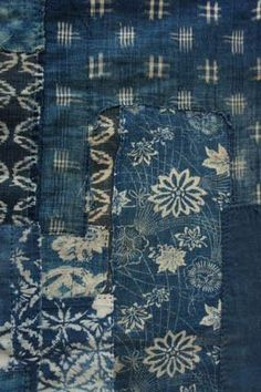 Detail; 1960's Vintage Indigo Japanese Boro Textile | via Arrow and Arrow.