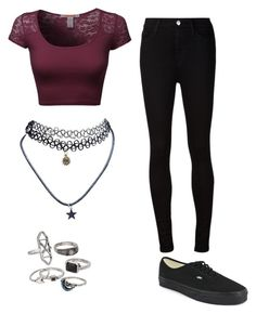 """""""Untitled #287"""" by amberrrrlove ❤ liked on Polyvore featuring Wet Seal, Mudd, AG Adriano Goldschmied and Vans"""