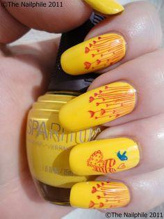 20-Best-Summer-Nail-Designs-Ideas-2013-For-Girls-6 Classy Nail Designs, New Nail Designs, Black Nail Designs, Nails Yellow, Burgundy Nails, Tumblr Nail Art, Bridal Nail Art, Diy Nails, Nail Nail