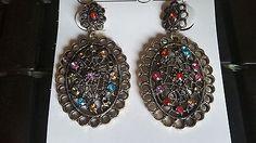 Bohemian Vintage Antique Design Drop Dangle Multi Color Fashion Earrings