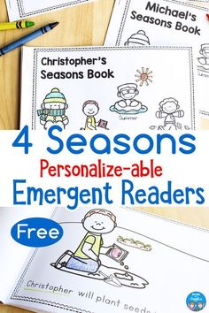 Seasons Emergent Readers You Can Personalize {Free Printable}