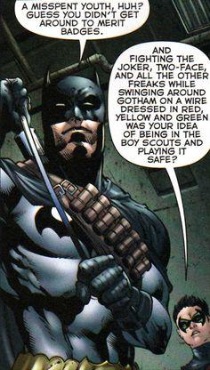 Batman(Dick Grayson) & Robin(Damian Wayne)