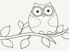 Cotujinhas que é da Sandra Messias partilhando no facebook.                                                                                                                                                     Mais Hand Embroidery Patterns, Applique Patterns, Applique Designs, Embroidery Applique, Owl Theme Classroom, Purple Bird, Owl Templates, Simple Line Drawings, Bird Artwork