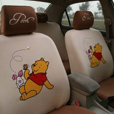 New winnie the pooh car seat covers 0221 car decor Cute Winnie The Pooh, Winne The Pooh, Green Day, Pooh Bear, Tigger, Red Jeep, Car Parts And Accessories, Pink Hello Kitty, Disney Home Decor
