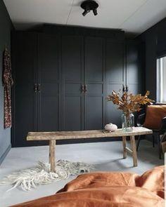 living room ideas – New Ideas Beautiful Bedrooms, Beautiful Interiors, Interior Design Inspiration, Home Interior Design, Farrow And Ball Bedroom, Dark Interiors, Black Walls, My Dream Home, Home And Living