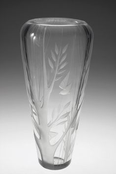 Helena Tynell Vase, 1956 Crystal Vase, Glass Ornaments, Scandinavian Design, Finland, Vintage Antiques, Shot Glass, Glass Art, Perfume Bottles, Pottery