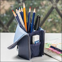 Stand-Up Pencil Case - Woodworking