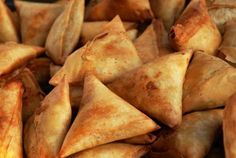 Swahili Sambusa - meat or veg deep fried tiny wraps