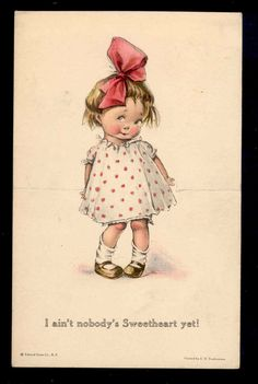 vintage illustrations, I love them Vintage Pictures, Vintage Images, Cute Pictures, Vintage Valentine Cards, Vintage Greeting Cards, Retro Poster, Cute Illustration, Vintage Children, Vintage Postcards