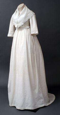1802, day dress of white cotton