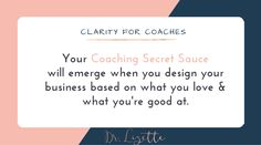 When you create a coaching business based on what you love and what you're good at your Passions & Skills will unite to create a unique transformative SECRET SAUCE that you and ONLY you can provide. One that your ideal clients won't be able to get enough of.  Have you discovered your secret sauce is yet?