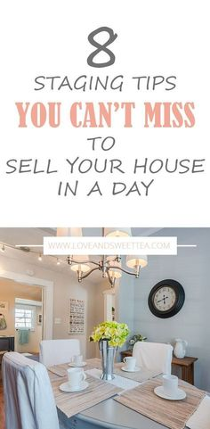 How to stage a house to sell in a day - Home Selling - Home Selling Tips - - Saving this post about how to stage a house to sell in a day! It's full of home staging tips to sell your house fast and for full price. Saving this for when I'm moving. Sell Your House Fast, Selling Your House, Home Renovation, Home Remodeling, Dusty House, Home Staging Tips, Home Hacks, Home Buying, A Table